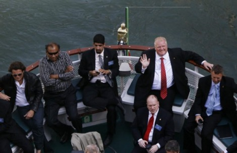 Rob Ford. Living large. Photo: National Post