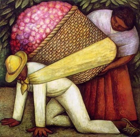 The Flower Carrier. Diego Rivera. 1935.