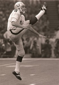 Ray Guy with the Oakland Raiders