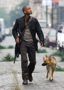 Will Smith and dog. The best parts of I Am Legend.