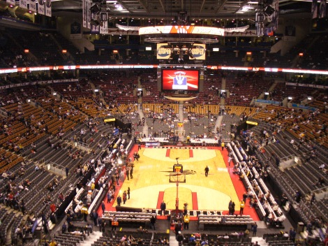 The crowds fill the Air Canada Centre. (Not shown: us)