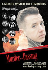 TTC posters promoting Murder in Passing.