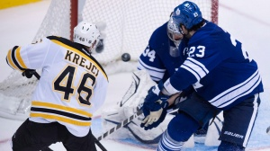 Krejci drives the knife into an entire city. (Photo: CBC)