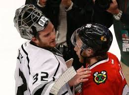 Kane says goodbye to Jonathan Quick.