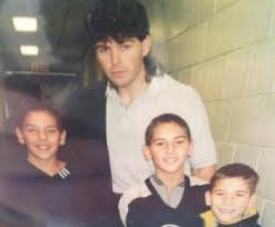 Jaromir Jagr with some local kids...wait a minute, that's Milan Lucic!