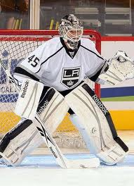 Bernier in goal for the Kings. Photo taken during practice, probably