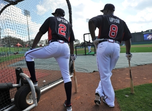 The Upton brothers, hanging out.