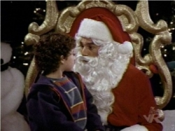 Kramer as Santa. Yeah, this is a good idea.