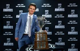 Calder winner Jonathan Huberdeau with Calder Trophy. But the Panthers still suck.