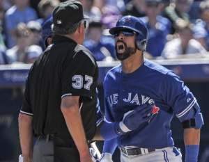 Bautista has been a tad... frustrated this year.