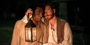 Ejiofor and Fassbender share a tense moment.