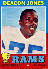 Deacon Jones looks friendly, but he terrorized quarterbacks.