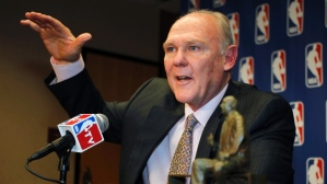 George Karl: happier times.