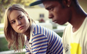 Grace (Larson) talks with Marcus (Stanfield).