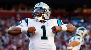 Backed by a superhuman defense, it's Supe... I mean, Cam Newton.