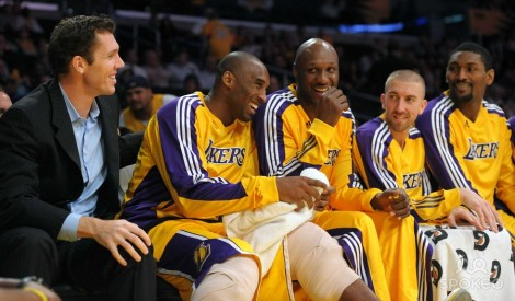 Players like Lamar Odom (seen here with Kobe, NBD) want to play near a beach.