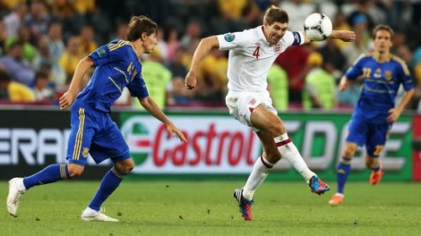 Steven Gerrard in action.