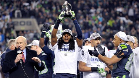 The Seahawks win in the Thunderdome, errr, the Super Bowl.