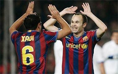 Xavi. Iniesta. They wish you good luck.