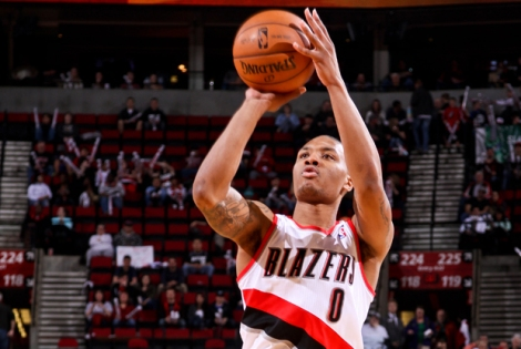 Dame Lillard, doing work.