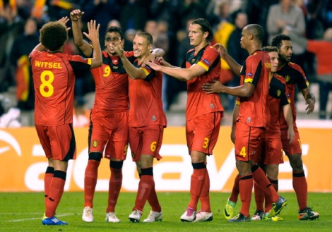 The Belgians will celebrate a round of 16 victory over the Portuguese