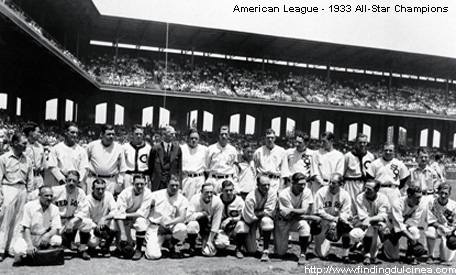 The first All-Star Game was played in 1933, at Chicago's Comiskey Park