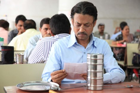 Irrfan Khan puzzles out meaning in The Lunchbox.