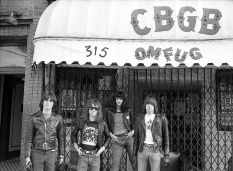Outside CBGB.