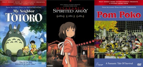 Just some of the famous films from Studio Ghibli.