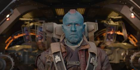 Michael Rooker as Yondu. Just one of the many fun character actors who pop up.