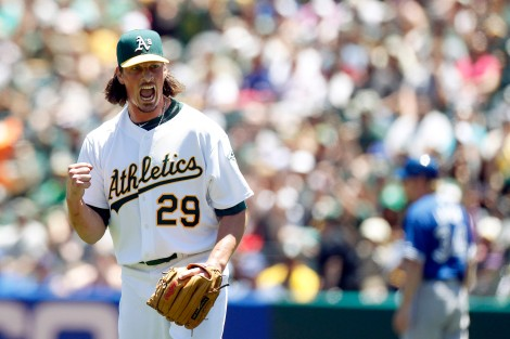 Jeff Samardzija is happy if you can pronounce his name on the first try.
