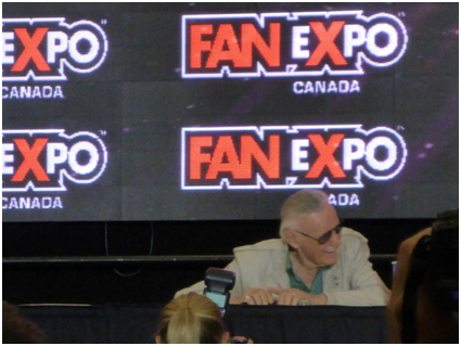 Stan Lee: a living legend, doing his thing.