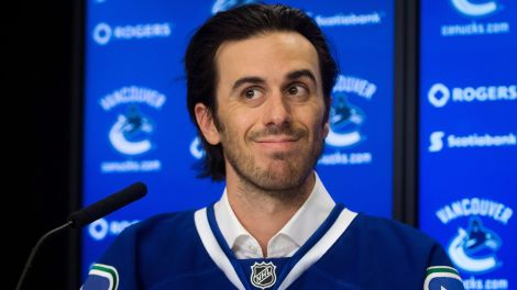 Ryan Miller, pleased to be in Vancouver.