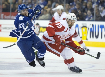 Kozun springs into the Leafs lineup! Action shot!