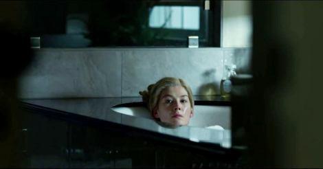 Rosamund Pike looks comfortable.