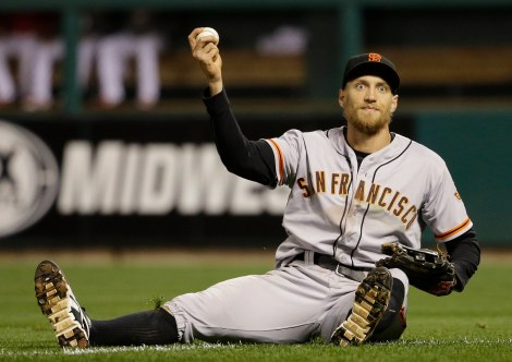 Hunter Pence was as surprised as you were.