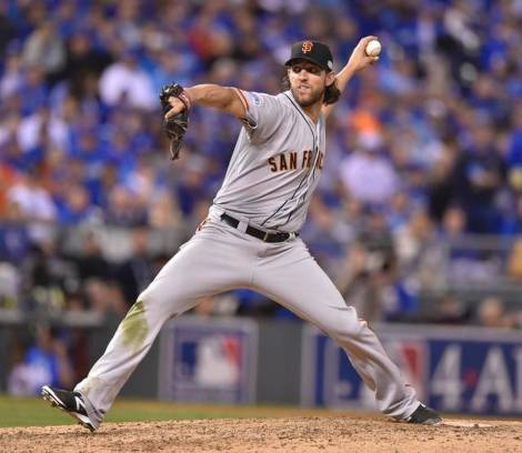 Big Madison Bumgarner of the San Francisco Giants.