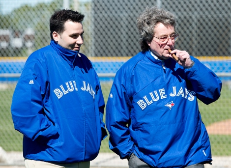No, that's not GM Anthopoulos with his Uncle Merle. That's Paul Beeston!