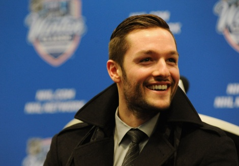 Jonathan Bernier is all smiles. Just don't ask him any questions about Nelson Mandela.