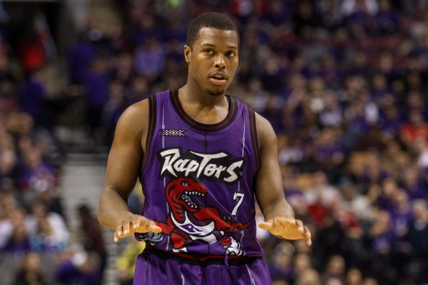Kyle Lowry would like everyone to chill. The Raptors are real... and they're, um, purple.