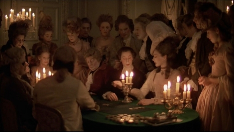 Barry Lyndon at night.