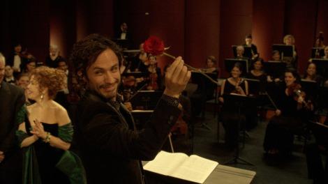 Gabriel Garcia Bernal getting cheeky in 'Mozart in the Jungle.'