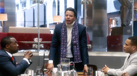 Proud father Lucious Lyon (as played by Terrence Howard).