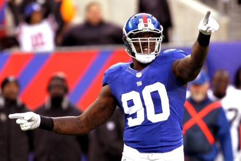 Jason Pierre-Paul is pointing to his signing bonus.