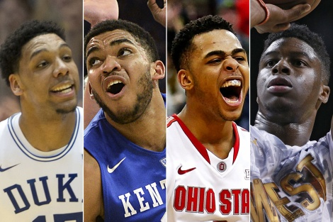 Do these guys have that one 'skill' that translate to the NBA? (From left: Jahlil Okafor, Karl-Anthony Towns, D'Angelo Russell, Emmanuel Mudiay)