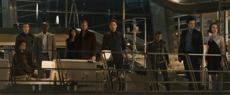 The Avengers getting interrupted by the demands of narrative.