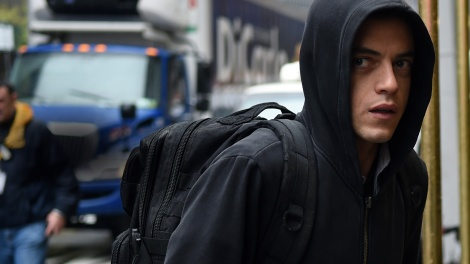 Rami Malek as Elliot Alderson in Mr. Robot.