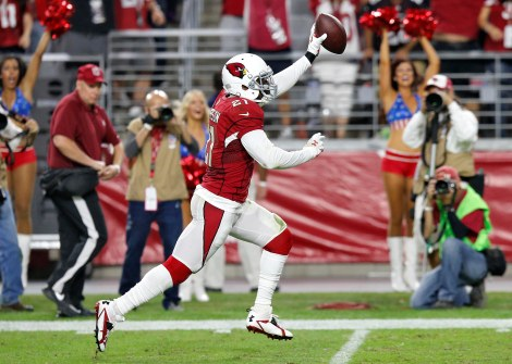 Patrick Peterson is a threat on every pass on his side of the field